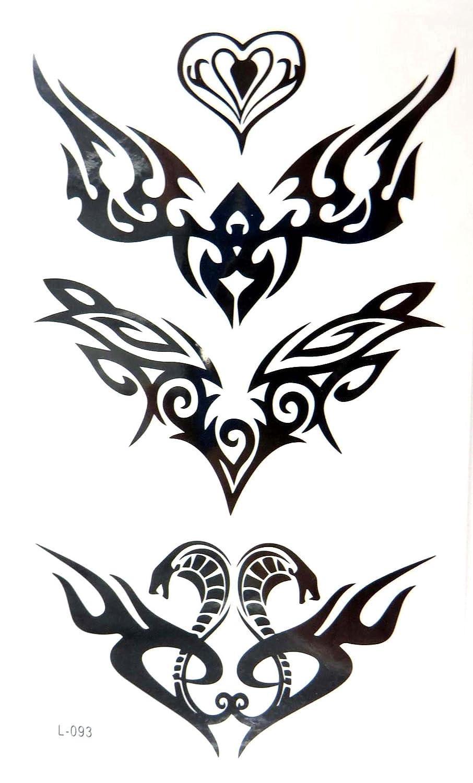 1613c6bb4 Amazon.com: tribal tramp stamp temporary tattoos wrist lower back: Clothing