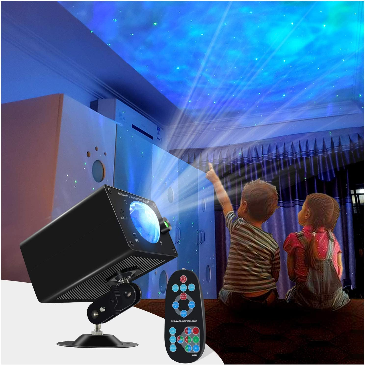 Star Projector with Nebula Cloud,Galaxy Projector for Kids Adults Bedroom/Party/Home Room Ceiling Decor Skylight Ocean Wave Starry Projector Night Light with Remote Control