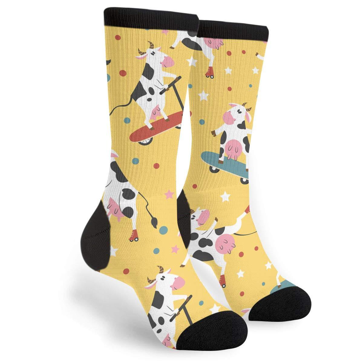 Amazon.com: Calcetines unisex divertidos con diseño de vacas ...