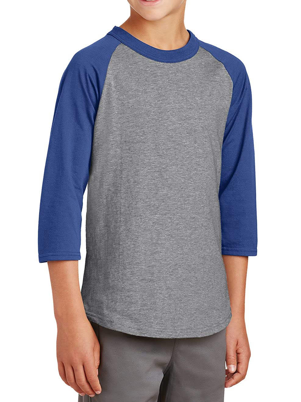 Mafoose Youth 3/4 Sleeves Colorblock Raglan Baseball Soft Jersey