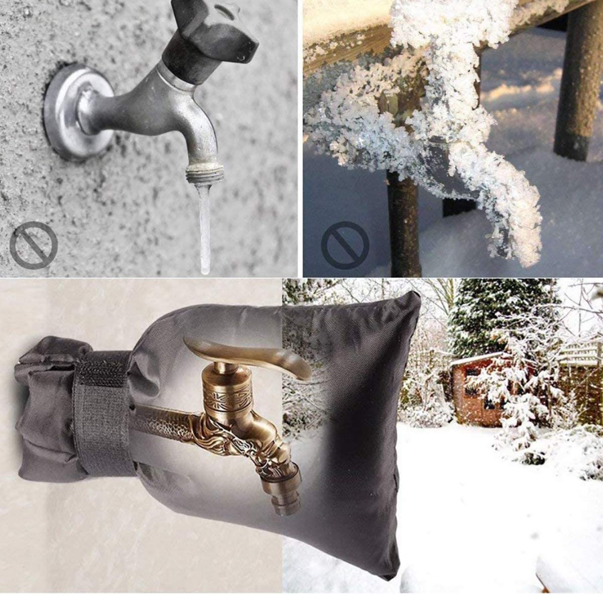Reusable Waterproof Insulated Spigot Cover(Thicker) yuantongshun Outdoor Faucet Covers Waterproof for Winter Outside Garden Faucet Socks for Freeze Protection