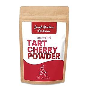 Jungle Powders Tart Cherry Powder - 3.5oz 100% Freeze Dried Fruit Powder Vegan Friendly Tart Cherry Extract - Natural Food Coloring Unsweetened Superfood Powder