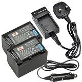 DSTE® 2x NP-FV70 Rechargeable Li-ion Battery + Charger DC04U for Sony DCR-SR15 SR21 SR68 SR88 SX15 SX21 SX44 SX45 SX63 SX65 SX83 SX85 FDR-AX100 HDR-CX105 CX110 CX115 CX130 CX150 CX155 CX160 CX190 CX200 CX210 CX220 CX230 CX260V CX290 CX300 CX305 CX330 CX350V CX360V CX380 CX430V CX520V CX550V CX560V CX580V CX700V CX760V CX900 HC9 PJ10 PJ30V PJ50 PJ200 PJ230 PJ260V Camera