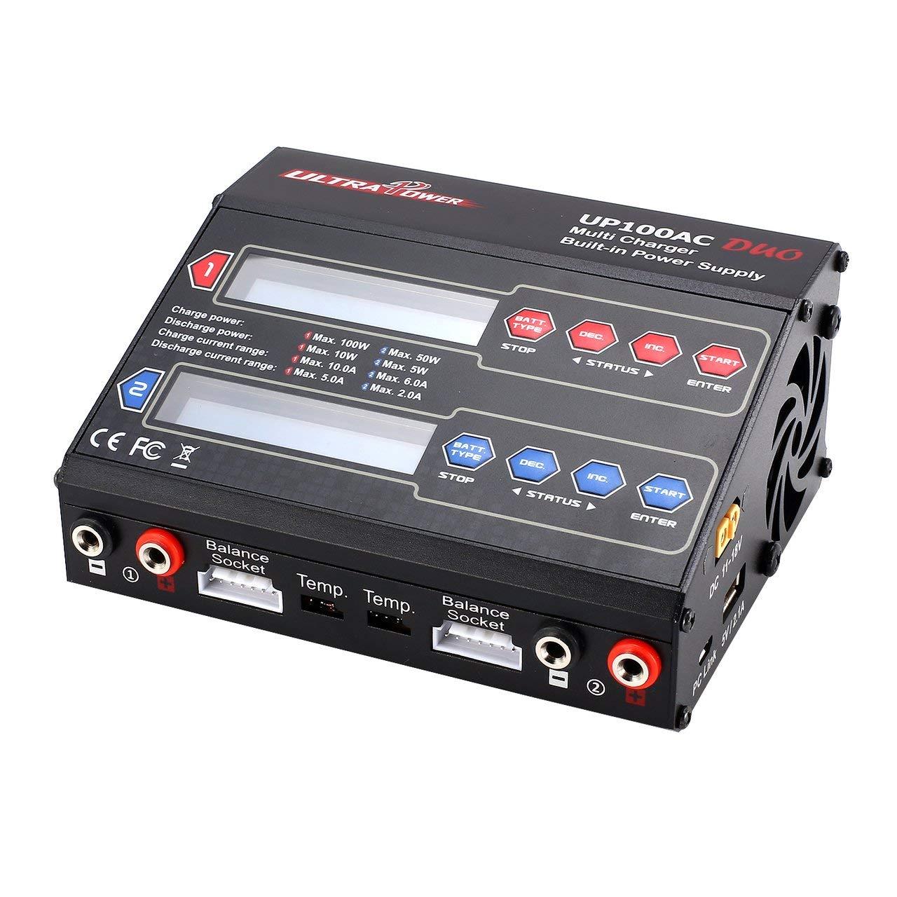 Jasnyfall Ultra Power UP240AC UP240AC UP240AC Plus 240W 4 Türen Batterie Multi Balance Ladegerät für RC - Schwarz 34a342