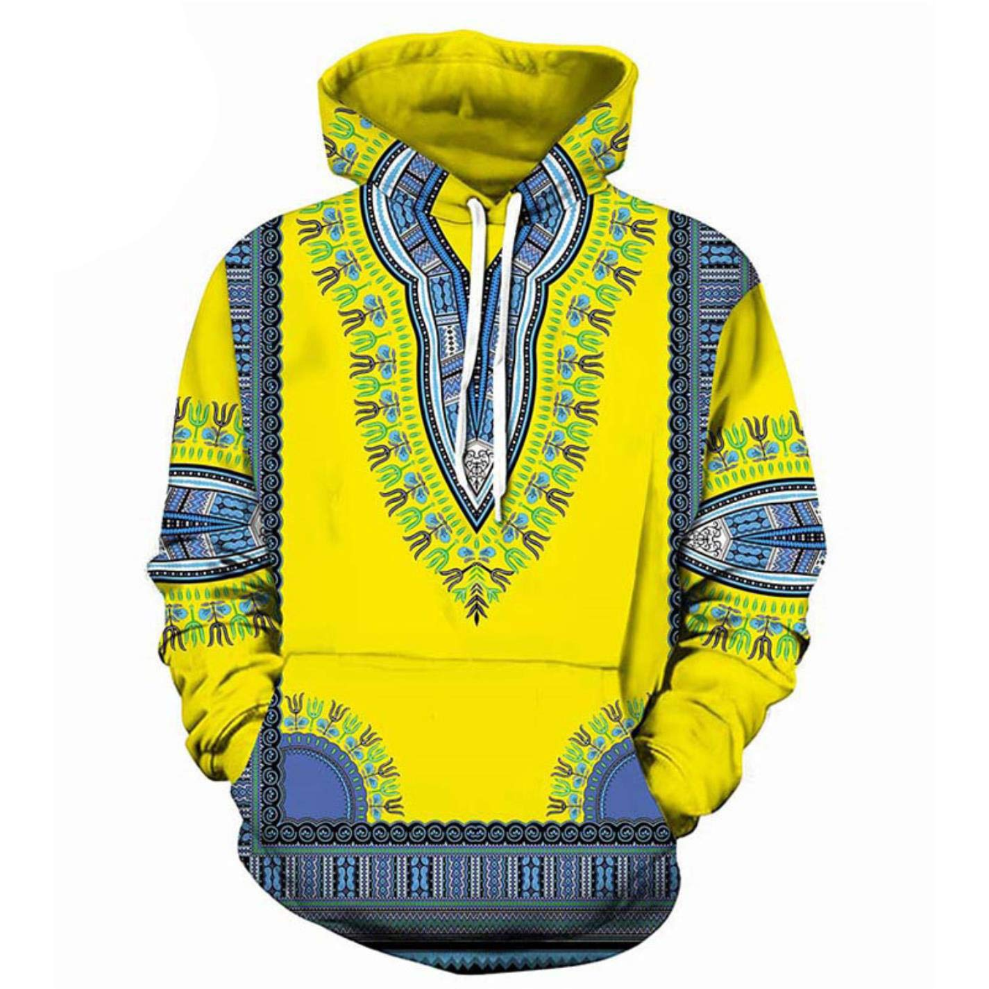 ACTJC African Clothing Casual Hooded Sweatshirt Men Women Fashion African Dashiki at Amazon Mens Clothing store: