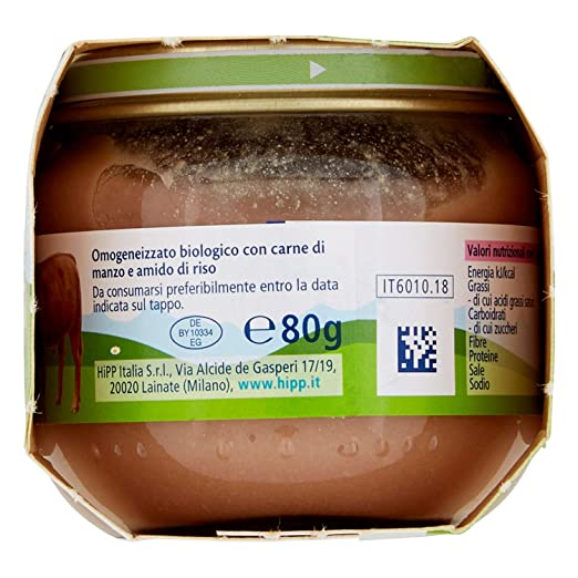 Amazon.com: Hipp Biologico Omogenizzato Di Manzo Biologico 2x80g: Health & Personal Care