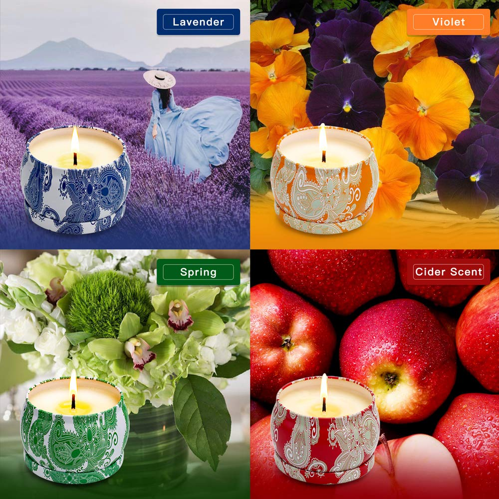 Yming Gifts for Women Scented Candles Gift Set Long Time Burning Bath and Body Works Relax Aromatherapy Candle Natural Soy Fragrance Candle for Festival Decorations, Fathers Day ,Garden Light