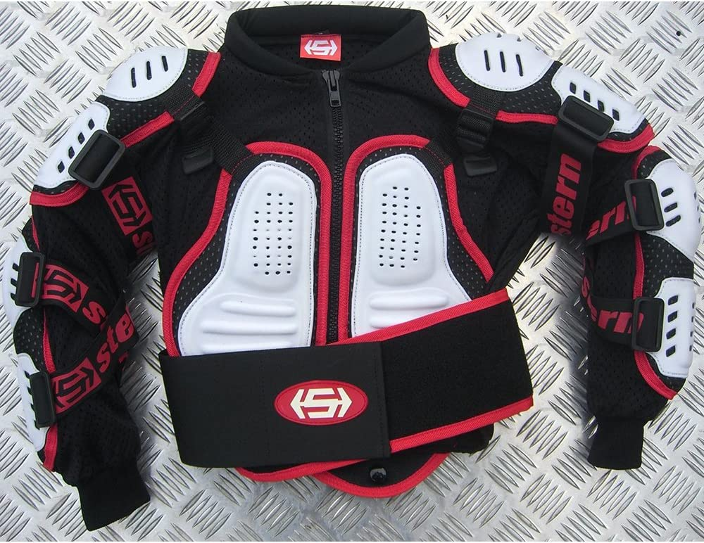 Kids Stern Motocross MX Body Armour Suit quad bike Jacket White