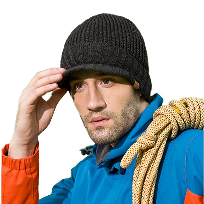 Al Aire Libre de la casa Prefieren Hombres Newsboy Gorro Invierno Cálido Grueso Knit Beanie Gorra