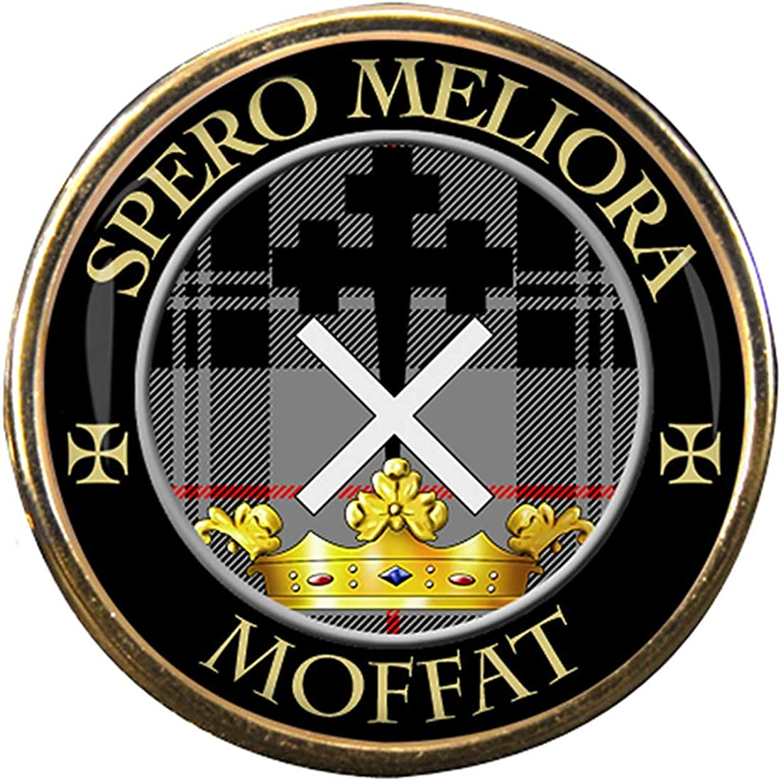 Moffat Scottish Clan Crest Lapel Pin Badge Gift