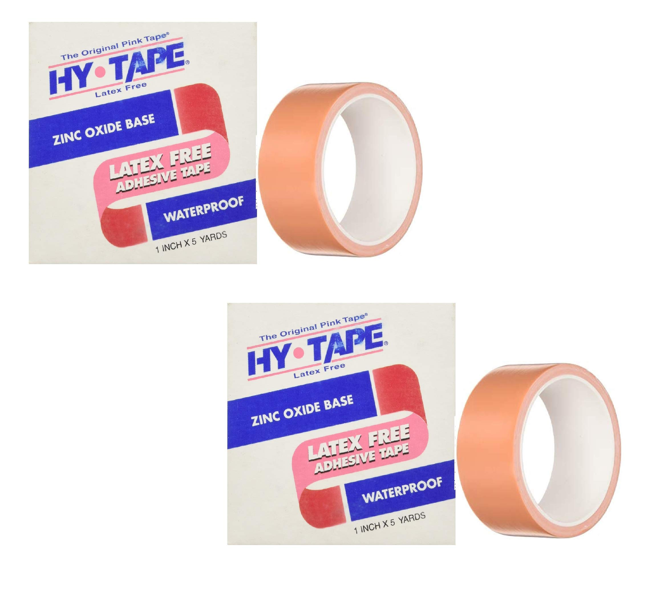 Hy-Tape Pink Tape, 1.5'' x 5 Yards, 15LF - Pink Medical Waterproof Surgical Tape (2 Pack (2 Count))