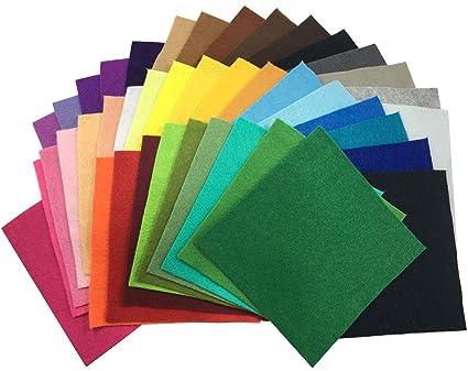42 Hojas de Fieltro No Tejido Tela Fieltro Suave de Acrílico para Manualidades Patchwork Costura DIY Craft Trabajo 15*15cm Espesor 1,4mm Colores ...