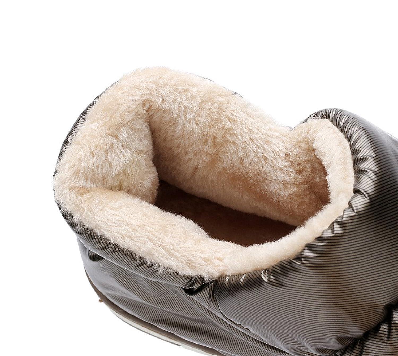 Polliwoo Zapatillas de Algodón Para Hombres Fluff Invierno Casa Calzado WKeh8IV7L
