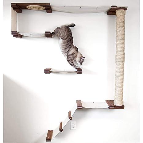 CatastrophiCreations Estantería para Gatos con Diseño de Escalada de Gato, Hecha a Mano, para