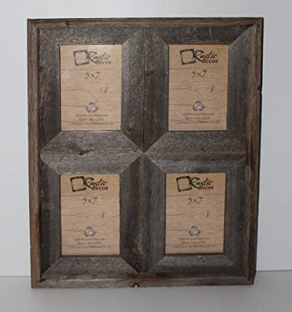 rustic collage picture frames Amazon.  5x7   2.5