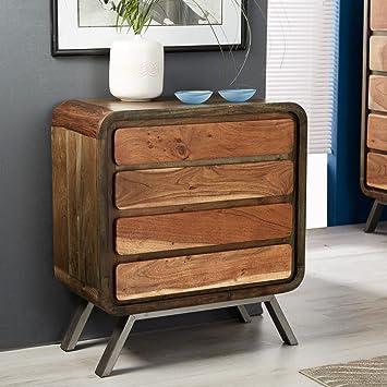oak furniture house alaska wieder eisen holz mobel kommode mit 4 schubladen