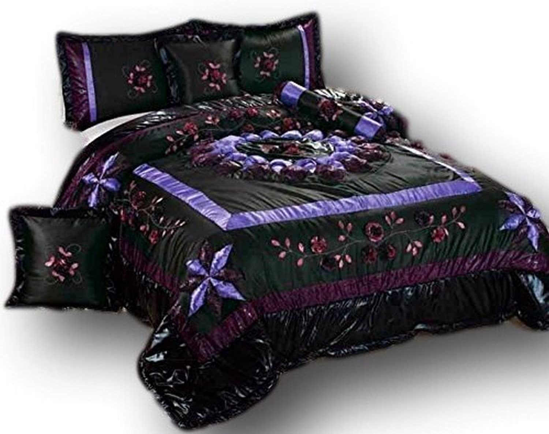 Tache Home Fashion BM-4362L-CK Comforter Set, Black