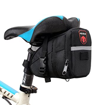 Bolsa de Sillín para Bicicleta, Bicicletas Bolsa, Alforjas, Mochilas para Sillin, tija o asiento tresero de Bicicleta.: Amazon.es: Deportes y aire libre