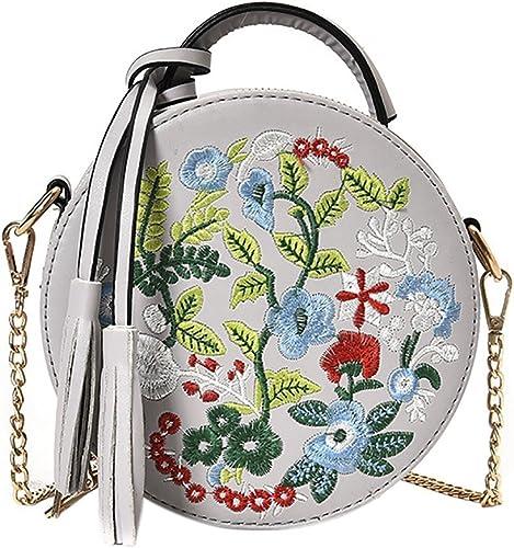 Color Rivet Design Women Leather Cross body Embroidery Metal Star Shoulder Bag