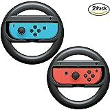 niceEshop(TM) Nintendo Switch Steering Wheel Controller, Joy-Con Wheel for Nintendo Switch(2 Pack), Black
