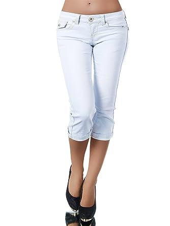K900 Damen Capri Jeans Hose Damenjeans Caprihose Caprijeans Bermuda Dicke  Naht, Farben Hellblau  f63c621164