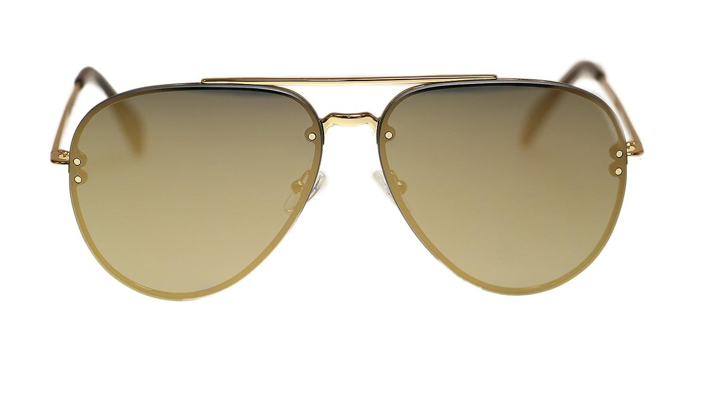 26782e38fe22 Amazon.com  Celine Unisex Sunglasses CL41391 J5G MV Gold Bronze Lens  Aviator 60mm Authentic  Clothing