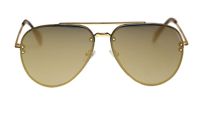 70ee1e6e9 Amazon.com: Celine Unisex Sunglasses CL41391 J5G/MV Gold/Bronze Lens ...