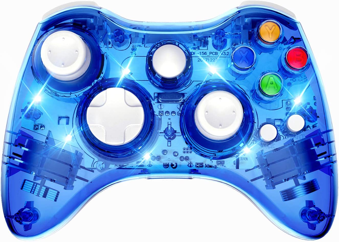 PAWHITS Wireless Xbox 360 Controller Double Motor Vibration Wireless Gamepad Gaming Joypad, Blue: Electronics