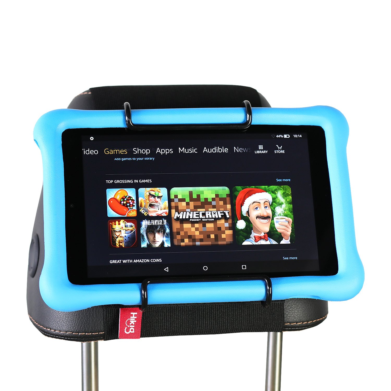 Hikig Car Headrest Mount Holder for all Kindle Fire - Kindle Fire HD 6 / HD 7 / HD X7 / HD X9 / HD 6 (2014) / HD 7 (2014) / HD 6 (Kid Edition) / HD 7 (Kid Edition) / New Fire 7 (2015) / HD 8 / HD 10 HK-MT-175