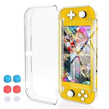 HeysTop Funda para Nintendo Switch Lite, Carcasa Nintendo Switch Lite con Protector de Pantalla y 6 Agarres para el Pulgar, Nintendo Switch Lite ...