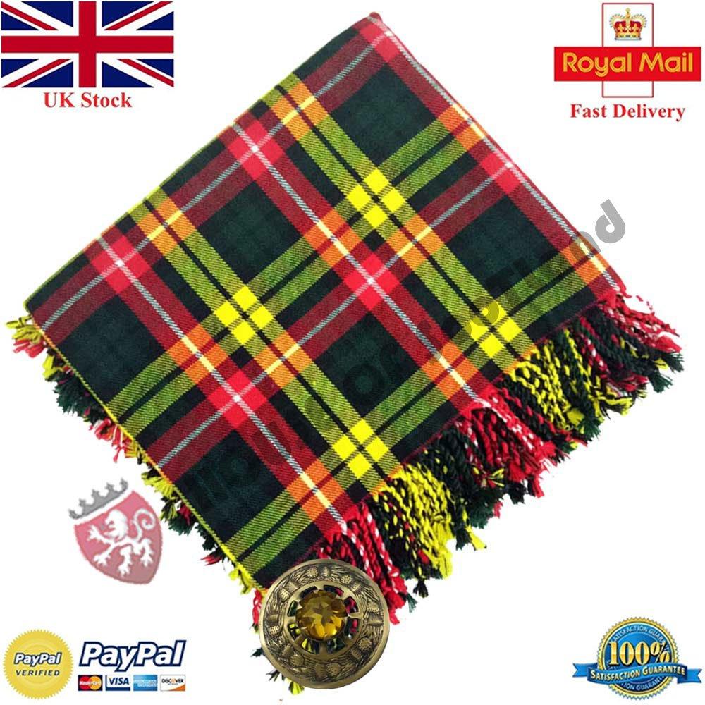 Amazon com: Scottish Kilt Fly Plaid Buchanan Tartan Acrylic 48
