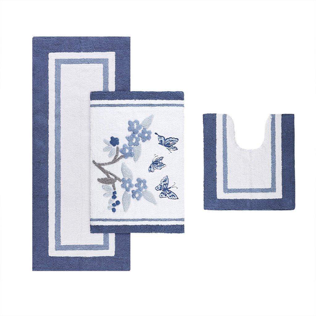 Madison Park Solandis Rug Blue