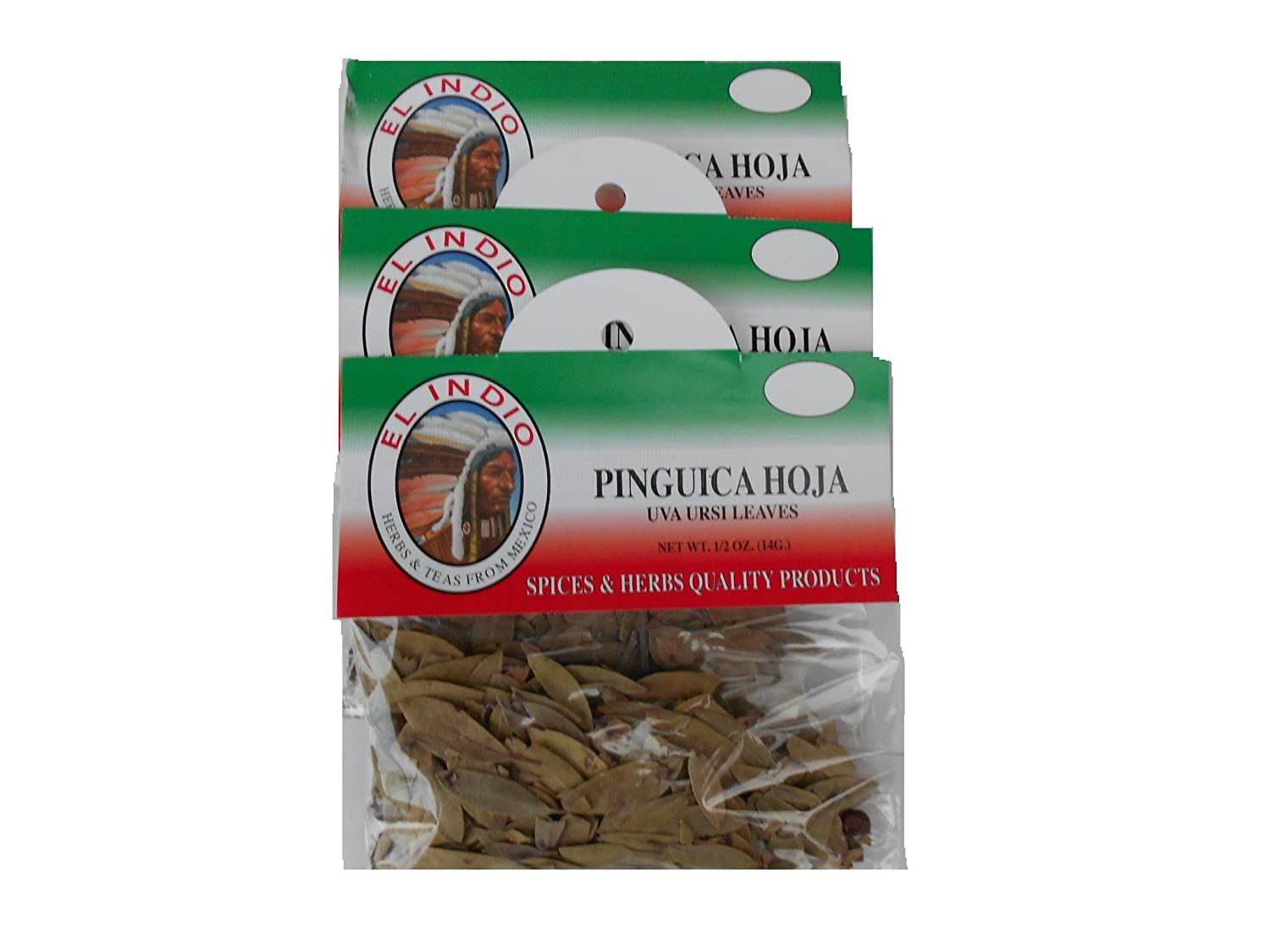 Amazon.com : Pinguica Hoja / Uva Ursi Leaves Net Wt 1/2oz (14gr) set-3 : Grocery & Gourmet Food