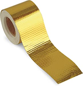 """Design Engineering 010397 Reflect-A-GOLD High-Temperature Heat Reflective Adhesive Backed Roll, 2"""" x 30' Roll"""
