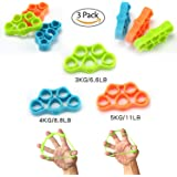 AIWANK Finger Stretcher Hand Resistance Bands for Rock Climbing, Athletes & Musicians Stress Relief & Rehabilitation,Set of 3 Resistance Levels : Kiss Elbow Pains Goodbye