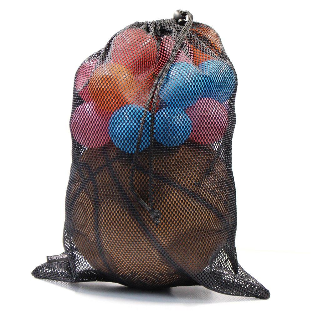 Erlvery DaMain 2pcs Mesh Equipment Bag Drawstring Storage Ditty Bags Stuff Sack for Travel & Outdoor Activity by Erlvery DaMain (Image #7)
