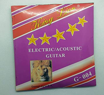 Conjunto de cuerdas para guitarra eléctrica King Lion G004 .011-.050 de acero niquelado: Amazon.es: Instrumentos musicales