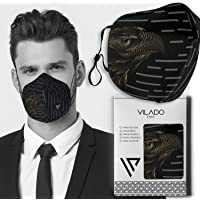 Vilado Reusable Fashion Face Mask- Breathable Comfort Non-Surgical Safety Mask Fully Machine Washable Earloop Silicon…