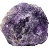 CrystalTears 1PC Healing Crystal Rough Amethyst Raw Quartz Gemstones for Wire Wrapping, Polishing, Tumbling, Reiki and Wicca