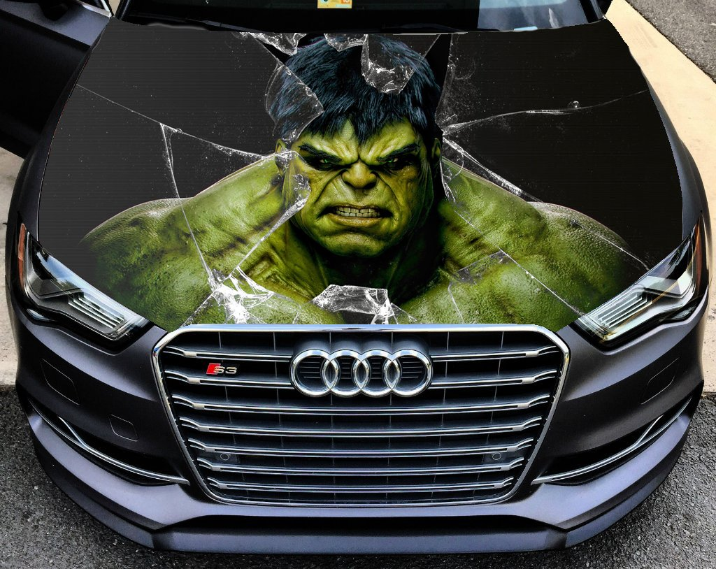 Amazon com full color hulk sticker car hood vinyl sticker car vinyl graphics decal wrap car hood graphics fit any vehicles mh90 baby