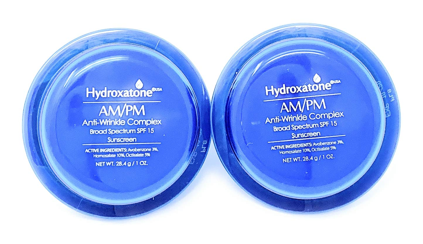 2Packs Hydroxatone AM/PM Anti-Wrinkle Complex SPF 15, 1 Oz