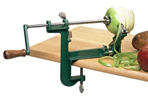 Fox Run 5761 Apple Peeling Machine with Clamp-On Base, Corer and Slicer, Stainless Steel