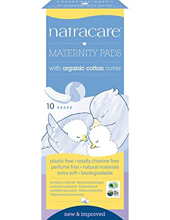 amazon com natracare organic maternity pads pack of 10 pads