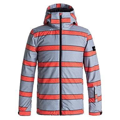Quiksilver Boys Mission Print Jacket 10/Medium Mandarin Double Stripe