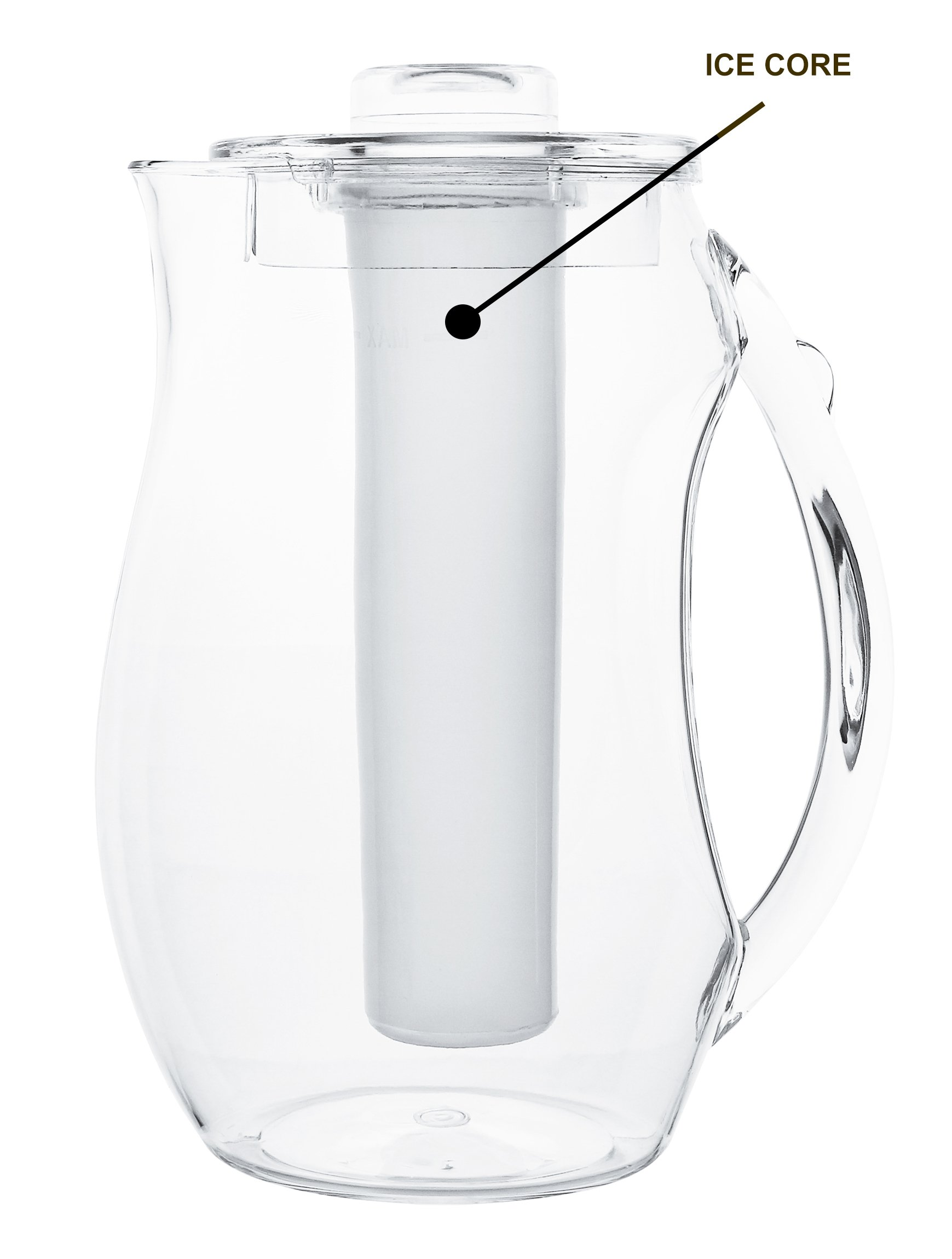 Estilo Acrylic Fruit Infusion Pitcher with Ice Core 2 Liter (72 oz/2.1 quart) by Estilo (Image #2)