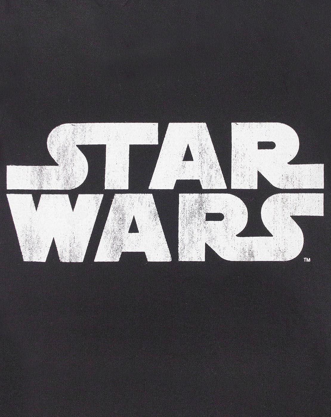 Star Wars La Franja Superior Logo Negro Chica