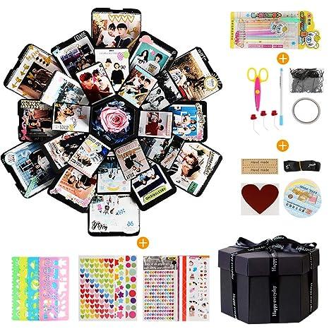 Leadstar Kreative überraschung Box Explosions Box Geschenk Box Scrapbook Diy Faltendes Fotoalbum Mit 6 Gesichtern Geschenkbox Geschenk Für Geburtstag
