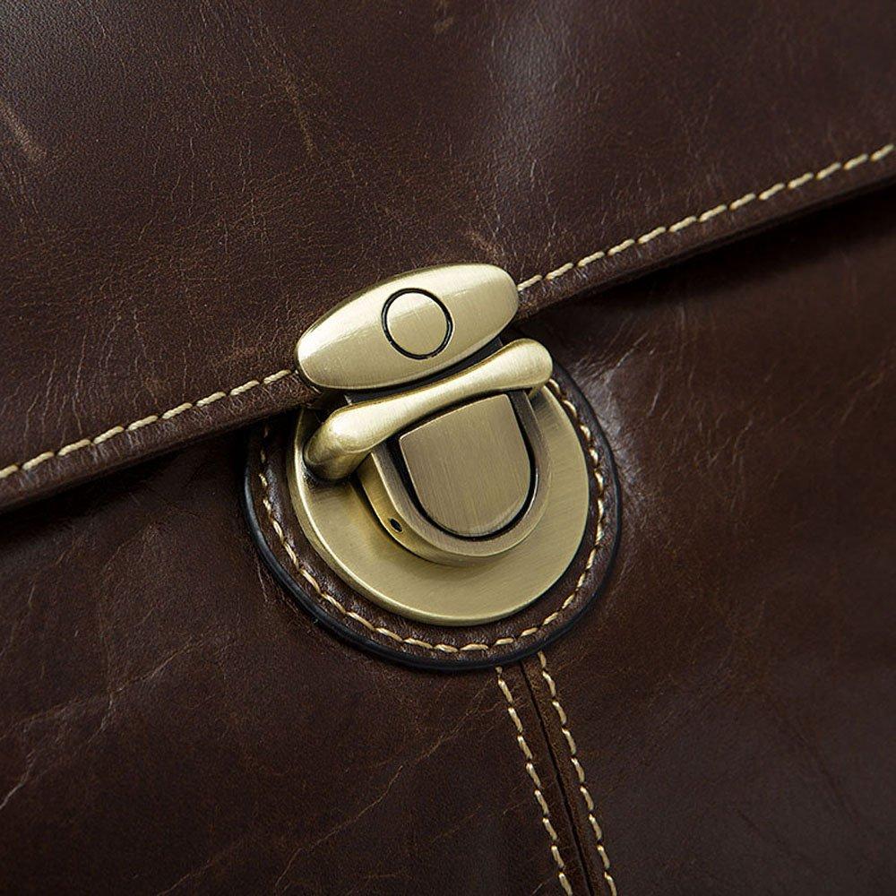 Rossie Viren Vintage Leather Briefcase Messenger Bag
