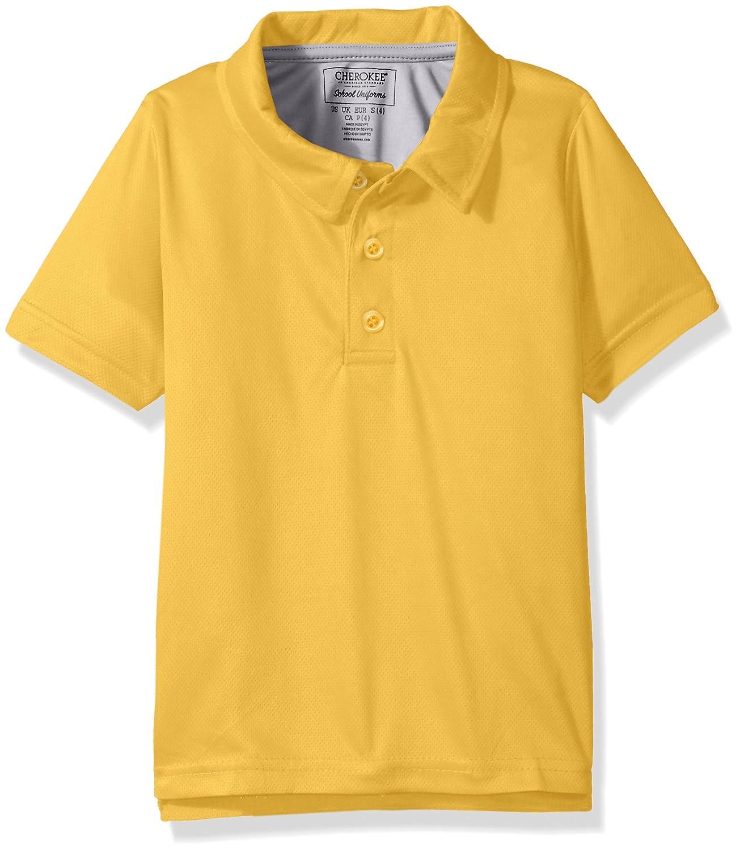 e2a616f7 Amazon.com: Cherokee Boys' Uniform Short Sleeve Performance Polo Shirt:  Clothing