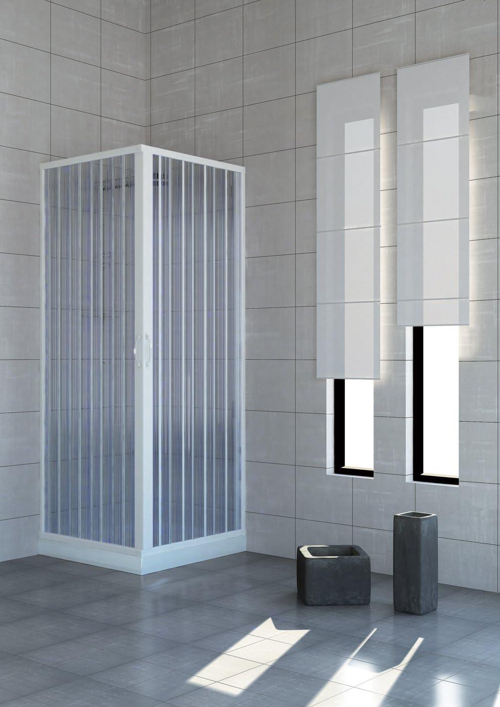 Roll plast blun2concc28080100 cabinas de ducha puerta, tamaño: 80 x 100 x h 185 cm, de PVC, apertura lateral, 2 puertas, color blanco: Amazon.es: Bricolaje y herramientas